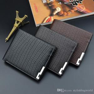 Designer new wallet men s short Korean version of the multi card fold crocodile pattern soft wallet fashion horizontal wallet male youth 018