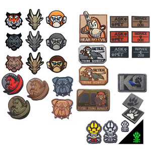 Outdoor HOOK and LOOP Fastener Patches Embroidered Badges Fabric Armband Stickers Animail Pet K9 Patch NO14-116