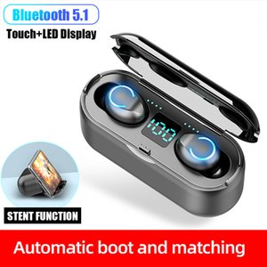 Auriculares Bluetooth 5.1 Headphone Touch Control Wireless Earphone F9 TWS Stereo Sport Running Gaming Headset Waterproof Earbuds