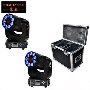 2IN1 Roadcase Pack Led Moving Head Wash Light Spot Function Rotate Gobo Wheel Color Wheel 3 Facet Prism Electronic Linear Focus