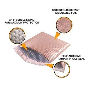 10 adet Lazer Gökkuşağı Postacılar Posta Zarf Torbaları Su Geçirmez Kurye Kabarcık Mailers Lazer Gümüş Yastıklı Zarf Wmthai