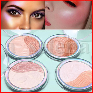 CmaaDu Cosmetics Face Makeup Single Color Highlighter Shimmer Pressed Powder Smile Bronzers Highlighters 4 Styles