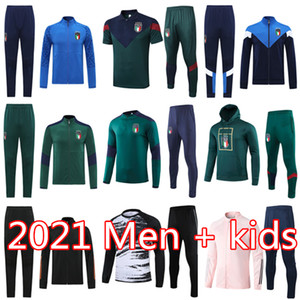 Italien Trainingsanzug survêtement Fußball BELOTTI Kurzarm Poloshirt BUFFON Verratti Jacke Kits DE ROSSI Fußballtrainingsnazuginstallationssätze chandal