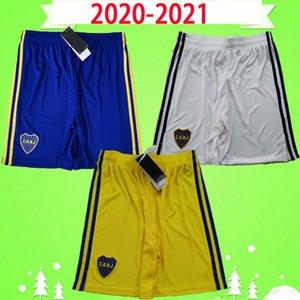 2020 2021 Nuova Argentina Club Boca Boca Juniors Pantaloncini da calcio Adulto Mens Home Blue Away Bianco Terzo Pantaloni da calcio gialli 20 21 Gago Carlitos