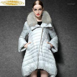 Chaqueta de pato blanco inverso Wome Abrigos largos Femenino Fashion Puffer Coat Light Womens Down Chaquetas 2020 yl169111 KJ37391