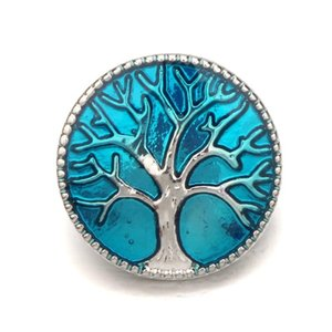 New Arrival Noosa 18 Mm Snap Buttons Charms Coin Round Tree Pattern Fit Snap Bracelets Necklace Ring Earring Diy Ginger Snap Button Uwe9X