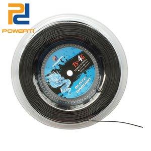 Powerti 1.30mm / 1,25mm Tenniszeichenfolge 4G Polyester Trainingsschläger String 200m Rolle Gym Sport Outdoor Black String 201116