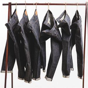 Maden mens 15oz crudo cyfvege jeans jeans regolare stile rettilineo stile giapponese jeans non lavati 201223