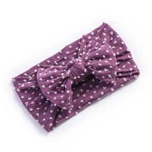 Nylon Baby Hair bows Wide nylon headbands Newborn headwraps Infant girls Top knot head wraps Toddler turban 367D
