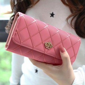 2019 High Quality Long Wallets For Women Double Zipper Wallet Big Capacity Purse Designer PU Leather Clutch Bag Card Holder.