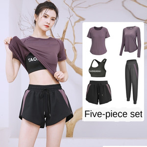2020 Yoga Wear Women's Summer Net Red Gym Sports Suit Morning Running Quick-drying Clothes Loose Large Size Thin Section
