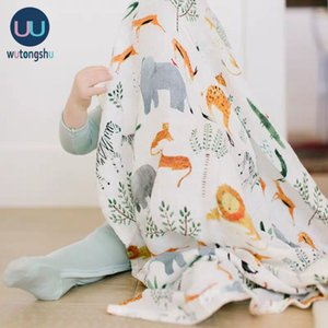Baby Blankets Cotton Newborn Photography Accessories Stroller Cover Cartoon Pattern Wrap Baby Play Mat Muslin Swaddle Blanket 201022