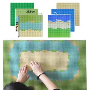 Baseplate Город Улица Красочный River Sandy Beach Island Base Plate Seaside Строительные блоки, которые поддерживаются Bricks Все бренды Для детей yxlrpu