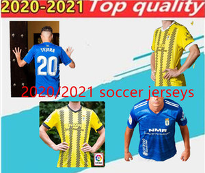 2020/21 Real Oviedo IBRA футбол футбол 2020/21 R. Folch Y. Bárcenas Johannesson Mossa Javi Muñoz Мужская футбольная рубашка синий белый