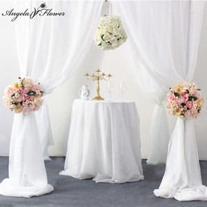 Artificial flower garland wreath decor wedding arch backdrop home curtain window road lead corner flower wall centerpieces ball