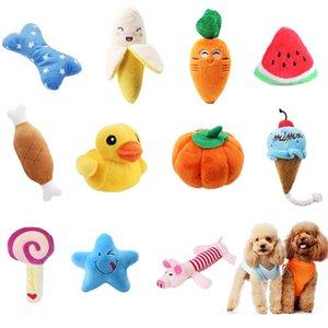 pawstrip 1 개 봉제 강아지 장난감 시끄러운 뼈 아이스크림 당근 강아지 장난감 인터랙티브 고양이 장난감 애완 동물 강아지 소리 장난감 작은 개를 씹어 서