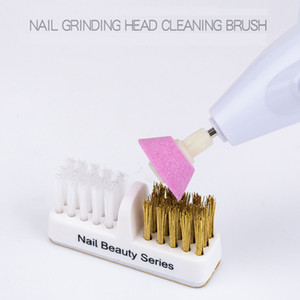 1pcs Nail Brush for Cleaning Drill Grinding Head Portable Cleaner Dual Brush Professional Manicure Tools