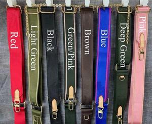 Venta de 7 colores Correas de hombro para 3 piezas Conjunto Diseñadores Bolsas Moda Mujer Crossbody Bag Straps Hombro Straps Old Flower Parts Strap Wholesale