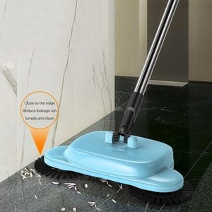 Stainless Steel Sweeping Machine Hand Push Magic Broom Dustpan Handle Household Cleaning Package Hand Sweeper Mop And Dustpan bbybbc