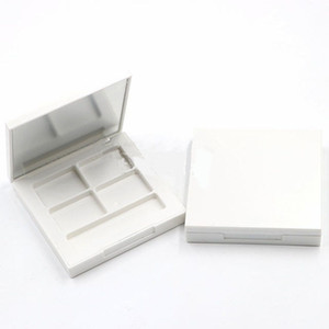 100pcs lot Eye Shadow Box Empty White Palette DIY Eyeshadow Case Cosmetic Containers Make up with Mirrors
