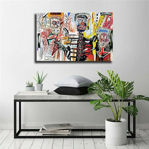 Jean Michel Basquiat Graffiti Art Abstract Oil Painting Colorful Posters & Prints Canvas Wall Art Pictures Bedroom Modern Home Decor
