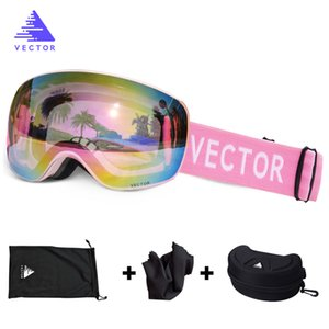 OTG Ski Goggles With Case Snow Sport Rimless Glasses Interchangeable Spherical Lenses Double-layered Skiing Snowboard Anti-fog Q0107