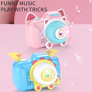 Bubble blowing toys Cartoon bubble camera Electric music Toy camera for children Soapy water Children's gift