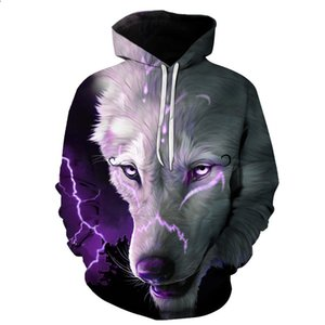 BIAOLUN Space Galaxy Wolf Hoodie Hoodies Men Women New Fashion Spring Autumn Pullovers Sweatshirts Sweat Homme 3D Tracksuit 201021
