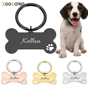 الياقة شخصية ID الأليفة العلامات منقوش الحيوانات الأليفة اسم ID لقطة جرو كلب العلامة قلادة حلقة مفاتيح مستلزمات الحيوانات الأليفة العظام