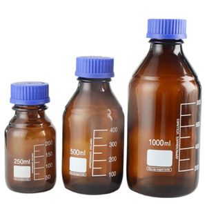 Laboratory High-quality 50ml 100ml 250ml 500ml 1000ml Glass Reagent Bottle Brown Screw Glass Reagent Bottle