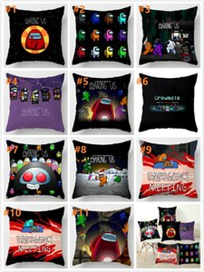NEW No pillow insert Square among us game fans anime cute pillow case Model student Bedroom Gift 45CM 11 styles