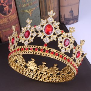 Bride Wedding Hair Jewelry Tiaras Crowns Accessories Hair Baroque Retro Body Hand Drill Crown Jewelry Dress Accessories