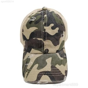 Ponillo de caballo de béisbol camuflaje diseños sombreros hembra leoprad impresión malla transpirabilidad sombrero mujeres adult tapas bolas OWC3594
