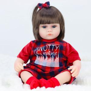 JULY'S SONG 42CM Baby Reborn Dolls Soft Vinyl Toys For Girls Adorable Reborn Baby Girl Realistic Newborn Birthday Present Doll LJ200827