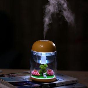 Micro Landscape Luftbefeuchter für Baby Home Office Kreatives Geschenk ätherisches Öl-Aroma-Diffusor mit wechselnder LED-Lichtsee-Versand HHE3831