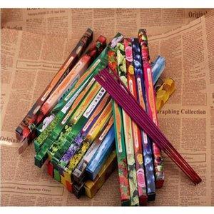 Mixfarbe Mode Handgemachte Darshan Räucherstäbchen Rauchstift Weihrauch Weihrauch Sticks Multiple Duft 8 stücke Jllvuk Sinabag