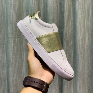 Mujeres de la plataforma de la venta caliente de los hombres entrenador Comfort zapato casual zapatilla de deporte para hombre del ocio zapatos de cuero Zapatos Formadores Slip-On