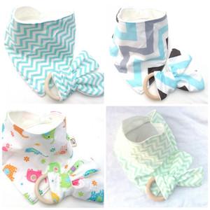 Children Burp Cloth Molar Rings Bamboo Fiber Baby Bibs Stripe Water Uptake Saliva Towels Hot Sale 5 5slb I2