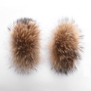 LaVelache 100 % 진짜 모피 수갑 큰 자연 너구리 모피 2020 겨울 새로운 패션