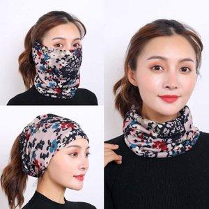 mask mascarilla fashion s face masks ins simple smiley face printed expression cotton breathable scarf Magic turban camou
