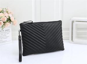2021 Новая роскошь дизайнерская сумка мода Twill муфты среднего конверта сумка черный классический кошелек на молнии кошелек