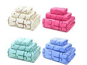 3 combination bath towel face towel adult men and women children cartoon printed bath towel water absorption