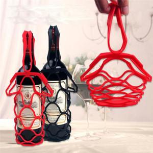 Saco de Armazenamento de Ocardian 2021 Moda Titular de Garrafa de Vinho Vermelho Silicone Garrafa de Vinho Nets Saco de Armazenamento Menção OrganizaçãoDor *