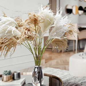 Long Branch simulation reed grass flower dog tail grass decorative flower living room Nordic bonsai dried simulation flow