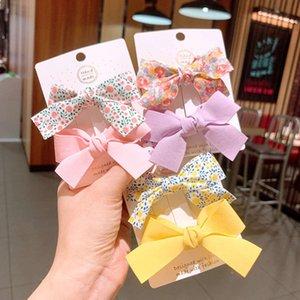 Coréia Ins Sul Fresco Broken Flower Bow Children Pathbill Set Bonito Bangs Lateral Grampo Hairpin2JMP