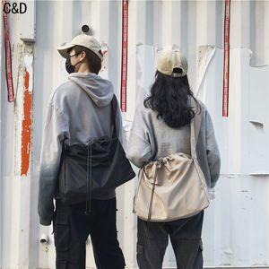 Fashion Male Shoulder Street Waterproof Cross Chest For Men Hip Hop Streetwear Women Large Crossbody Messenger Bag Q1221