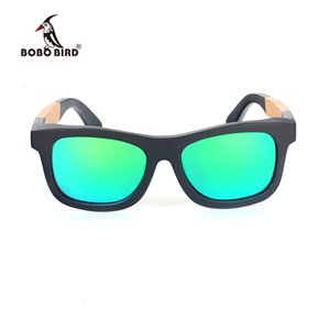 Bobo Bird Wood Sun Glasses Hombres Bambú Polarizadas Gafas de sol Mujeres Protección UV Gafas en Regalos Caja