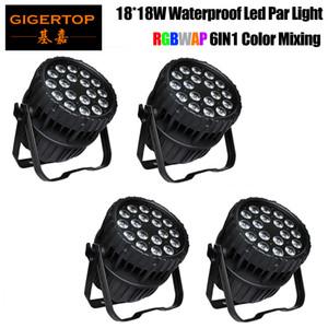 escenario del concierto iluminación 18x18W RGBWA UV 6en1 zoom par Iluminación LED PAR puede acercar PAR64 LUZ IP65 a prueba de agua al aire libre de iluminación
