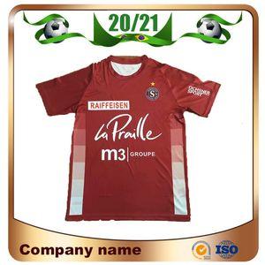 20/21 Maillots de Football Servette FC Home Red Soccer Jerseys 2021 Manga corta Switzerland Club Servette Men Football Camiseta Uniformes