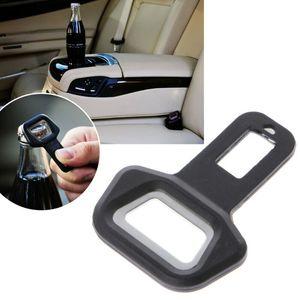 Dupla utilização Universal Safety Car Belt Buckle Clipe de bloqueio de protecção abridor de garrafas Universal Car montadas em veículos Abridores OWC2691